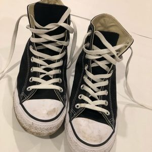 Black high top converse size 10